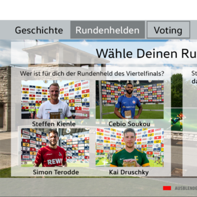 Best Cases Sport1: DFB Pokal Walk of Fame - Beispiel Microsite